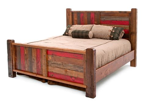 Barn wood bed vintage wood bed painted bed cottage bed coastal