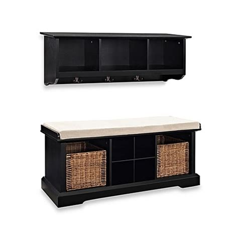 10615 Asma Black Set 2 In 1 buy crosley brennan 2 entryway bench shelf set in