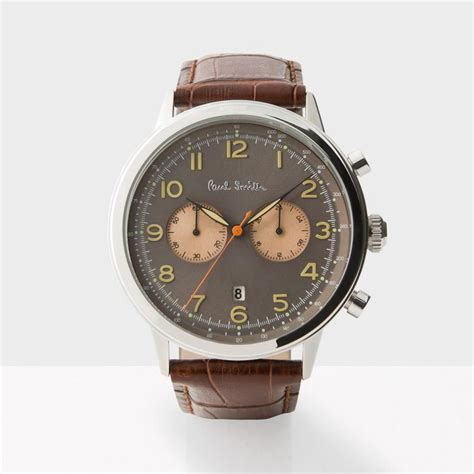 paul smith s gunmetal and brown precision