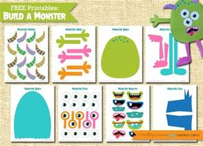 build a monster free printable somewhat simple