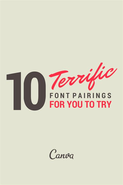canva fonts list 10 terrific font pairs to try inspiration to make your