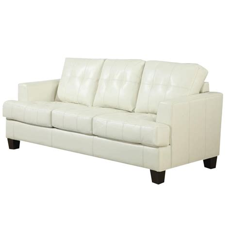 coaster sofa sleeper coaster samuel leather sleeper sofa in cream 501690