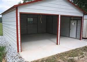 two car garage 20 wide x 20 x 8 leg height x 11 8