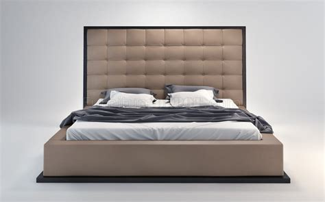 Oversized Headboard by Ludlow Bed In Taupe Wenge By Modloft W Oversized Headboard