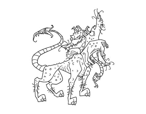 fantastic animals 2 a colouring book a unique antistress coloring gift for and seniors for color therapy with stress relief mindful meditation books cerberus coloring page coloringcrew