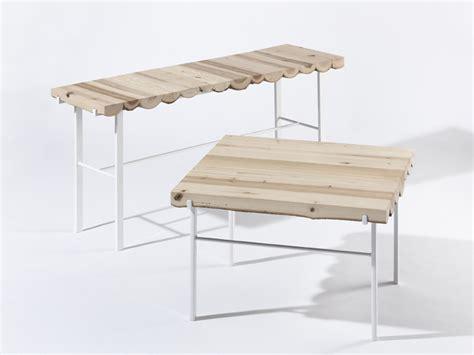 bench retail found wood table bench by kl 225 ra šumov 225 187 retail design blog