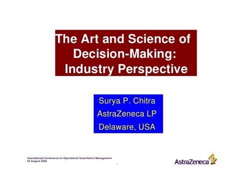 Mba In Decision And Information Science the science of decision key note speech