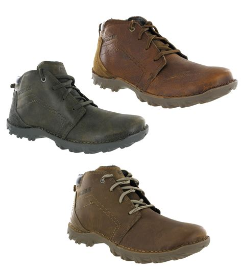 mens cat caterpillar transform rugged leather lace up