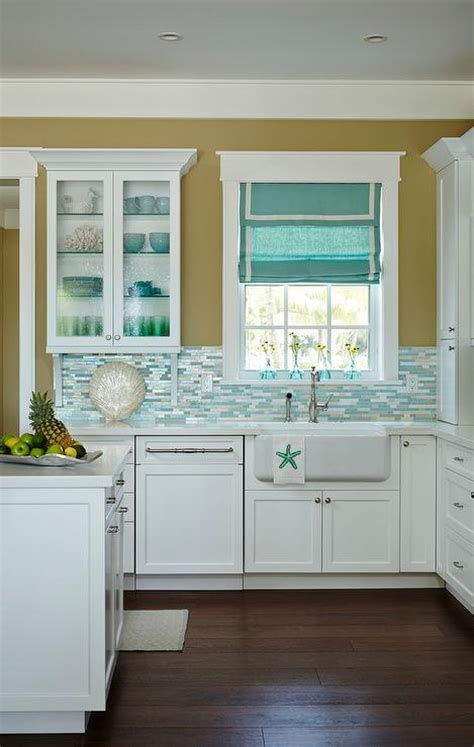 blue backsplash kitchen silver and blue mosaic kitchen backsplash tiles cottage