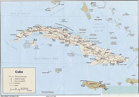 cuba on a map map of cuba