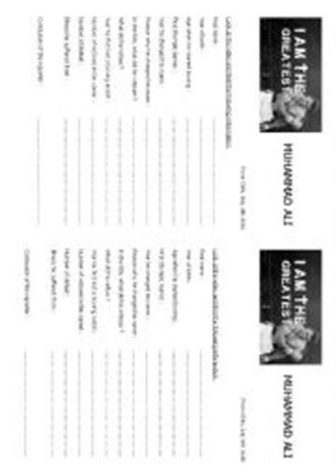 muhammad ali biography worksheet english worksheets muhammad ali 180 s biography