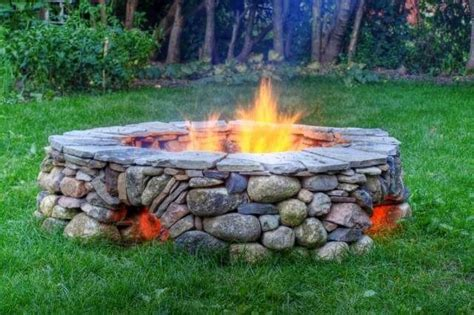 firepit rocks river rock pit my big yard ideas