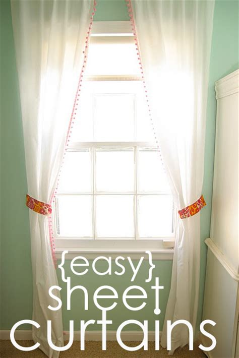 making curtains out of sheets 33 shades of green guest post from homemade ginger easy