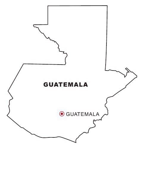 Guatemala Map Coloring Page | map of guatemala coloring color area