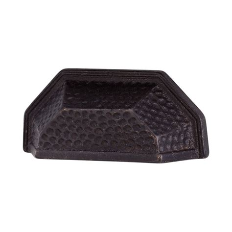 hammered cup drawer pulls alno creations shop a1439 dkbrz cup pull dark bronze
