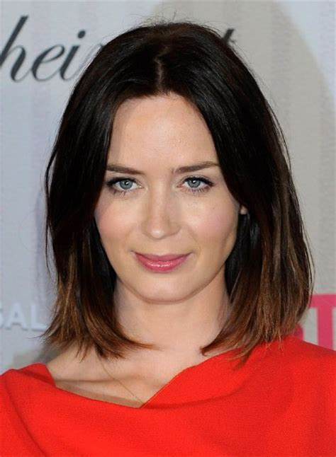 midlength jagged blunt cuts emily blunt hairstyles popular haircuts
