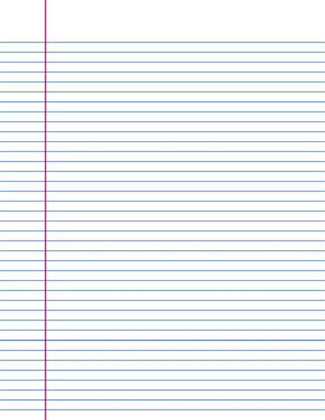notebook paper template for word 14 lined paper templates excel pdf formats