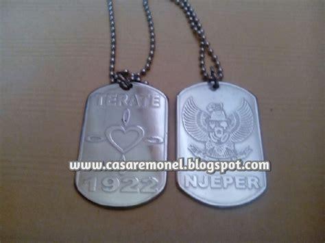Kalung Cakar Titanium Impor Buatan Korea Aksesoris Pria Dan Wanita Ori kalung tni army casare monel jepara 085225716666 08562744036