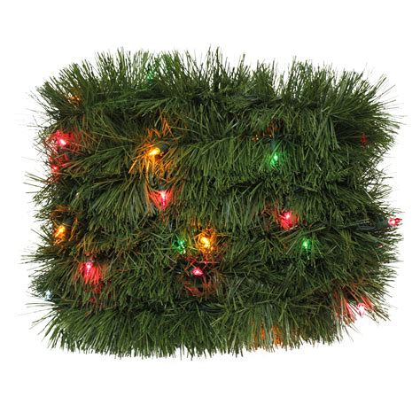 sears outdoor lighted christmas garland trim a home 174 lighted soft garland with multi lights 18 ft seasonal