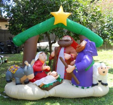 target nativity scene decorations air blown nativity manger yard decoration 7
