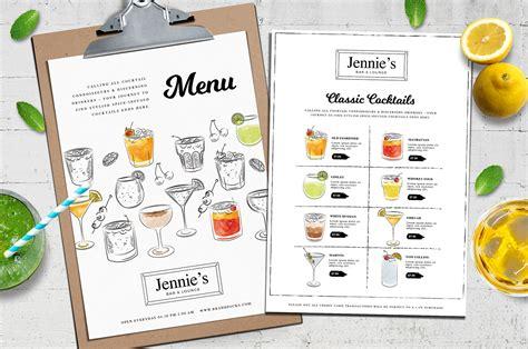 free restaurant menu templates 35 menu examples