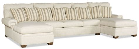 double leather chaise double chaise sectional