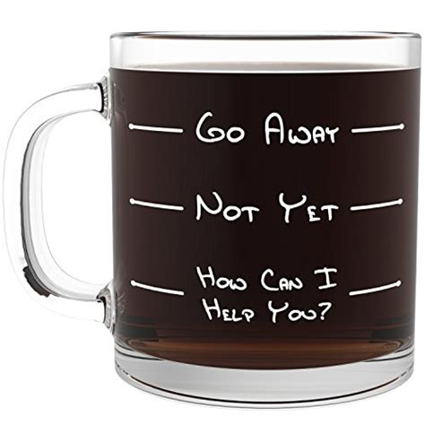 unique coffee gifts go away funny glass coffee mug unique novelty gift for