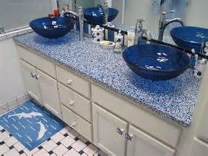 Recycled Glass Vanity Tops For Bathrooms Diy Bathroom Vanity Ideas For Bathroom Remodeling