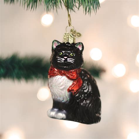 cat first seen christmas tree world tuxedo cat glass tree ornament 3 5 inch chewy
