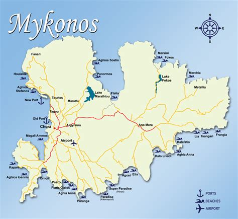 mykonos map what to do and see in mykonos town greece