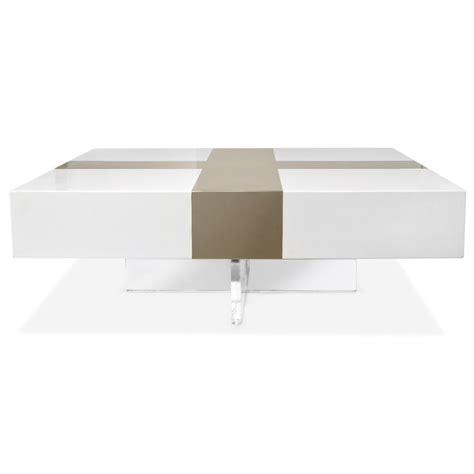 coffee table futuristic white lacquer coffee table