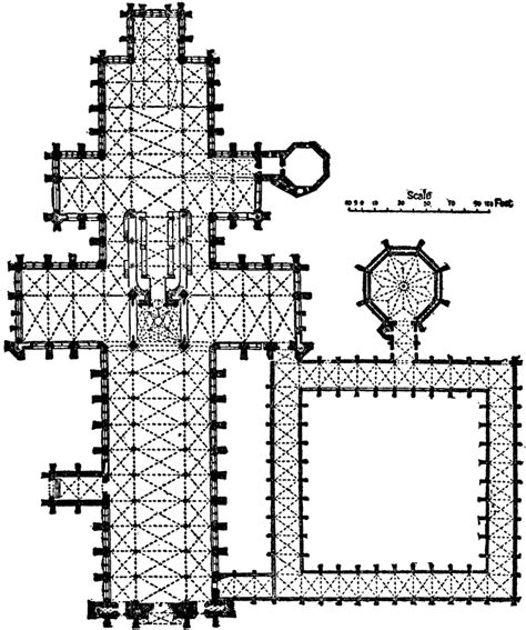 salisbury cathedral floor plan fig 16 22 pg 516 plan of salisbury cathedral this