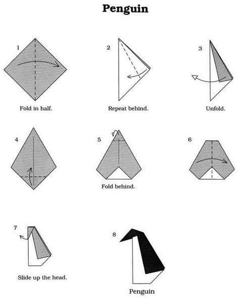 Easy Origami Penguin - 25 best ideas about origami for beginners on