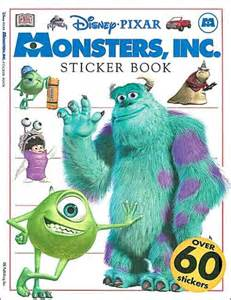 monsters inc books monsters inc sticker book by cynthia o neill paperback