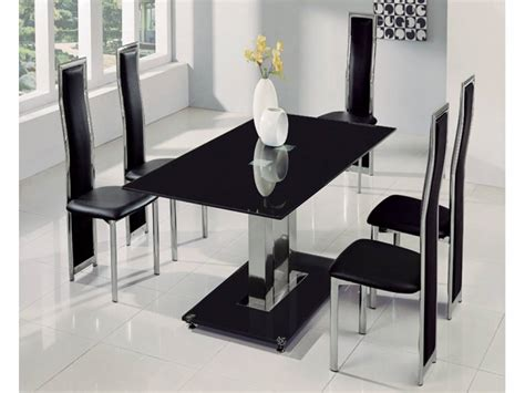 Black And Glass Dining Table Make A Special Atmosphere With Black Glass Dining Table