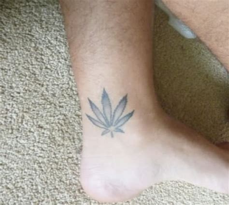 weed tattoo designs for men small on ankle