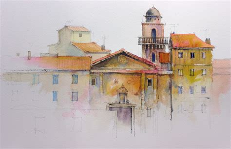 sicily sketchbook books buildings watercolor splashing paint