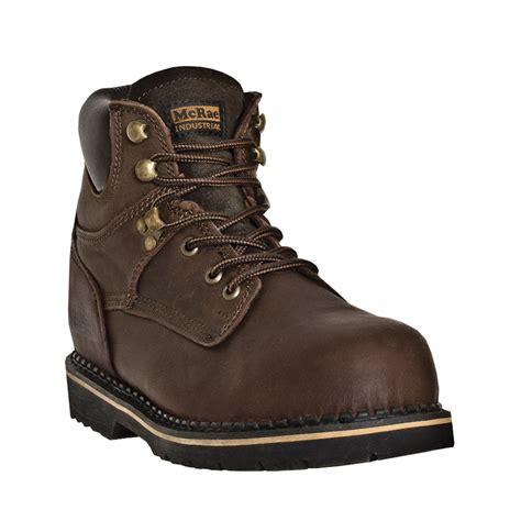 soft toe work boots for mcrae industrial mens brown leather 6 quot lace up soft toe