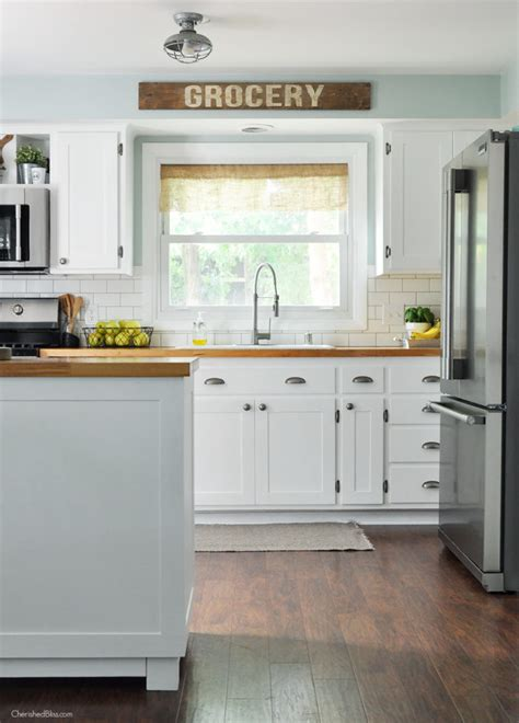 Removing Kitchen Cabinets industrial farmhouse kitchen cherished bliss