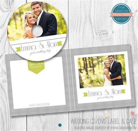 wedding dvd cover template wedding cd dvd label and cover template for photographers