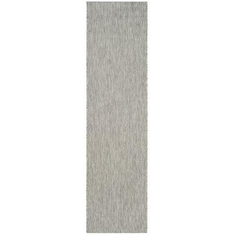 indoor outdoor runner rug safavieh courtyard gray 2 ft 3 in x 12 ft indoor outdoor runner area rug cy8520 36811 212