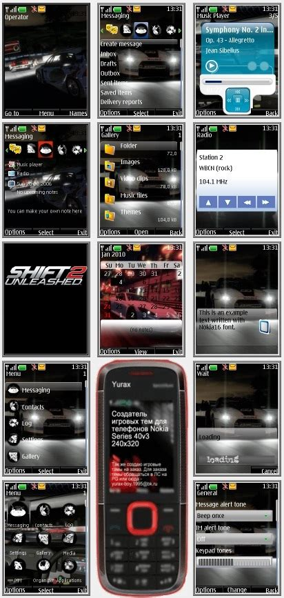 themes nokia s40 240x320 shift 2 unleashed quot theme for nokia s40 240x320 quot by yurax