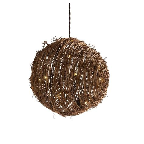 15 Light Natural Brown Rattan Ball String Light 15 Count Rattan String Lights