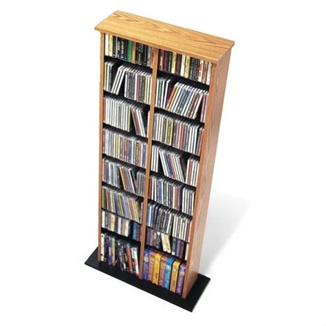 dvd storage tower prepac cd dvd multimedia storage tower oak black ebay