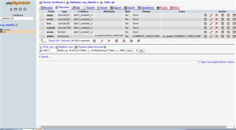 cara membuat website dengan menggunakan php dan mysql cara membuat form buku tamu dengan php dan mysql klik tau