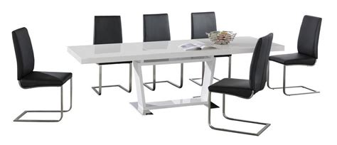 High Top Dining Table With 8 Chairs White High Gloss Extending Dining Table And 8 Chairs Homegenies