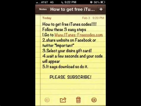 I Need A Free Itunes Gift Card Code - free itunes codes youtube