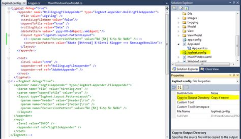 log4net layout header footer me and my code logging using log4net in wpf