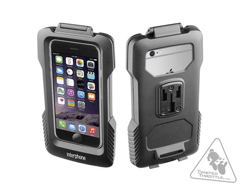 interphone water resistant with tubular handlebar mount for iphone 6 6s twistedthrottle