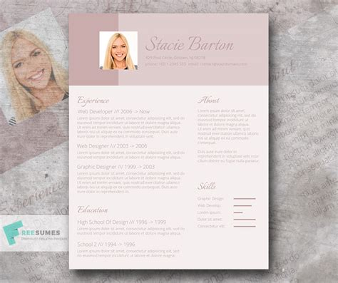 Design Vorlagen Indesign Cv Design For The Applicant For The